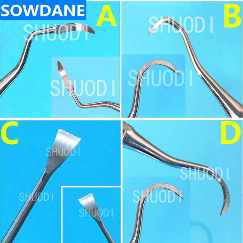 Dental Oral Care Teeth Scaler Cleaning Periodontal Gracey Curette Curettes Bone Curettes Perio Scalers Tool Teeth Whitening