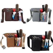 Professional Barber Scissors Bag Waist Pack Pouch Hairdressing Hair Salon Tool LX9F