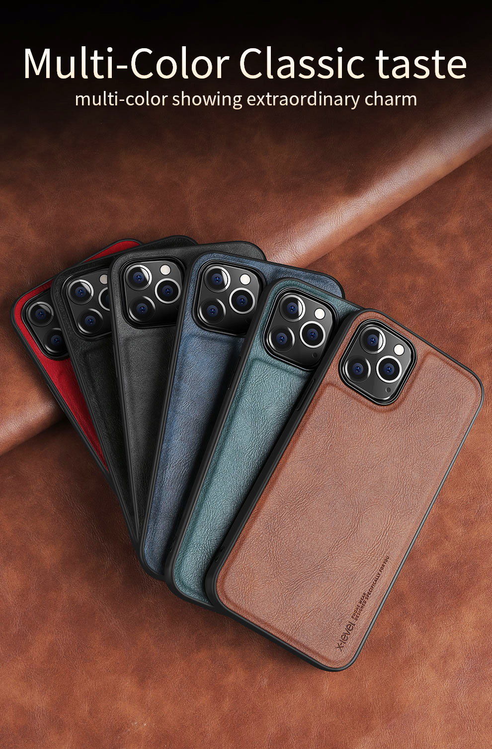 Shockproof Soft Silicone Edge Back Cover PU Leather Waterproof Case For iPhone 12 Pro