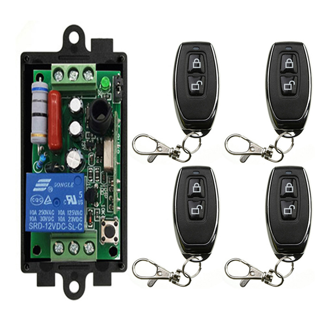 AC220V 1CH rf Remote Control Switch Wireless Relay Receiver Controller and Transmitte for Garage\ Door\ LED\ Bulb 315MHz/433MHZ