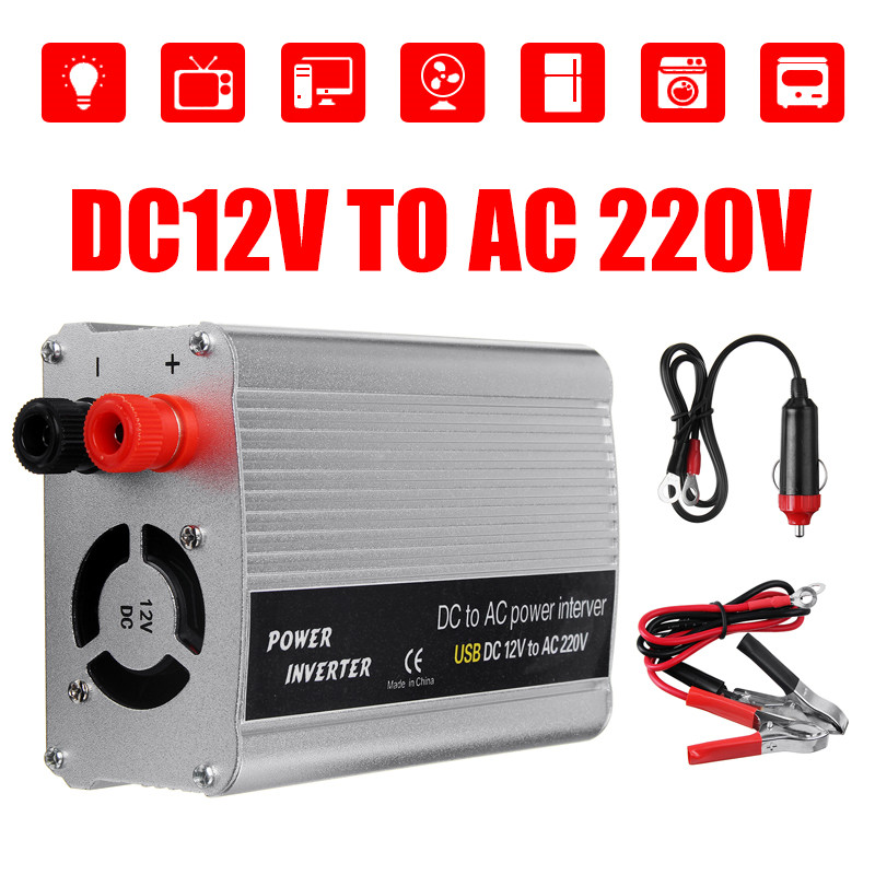DC 12V to AC 220V Car Power Inverter Electronic Charger Converter 2000W US NEW