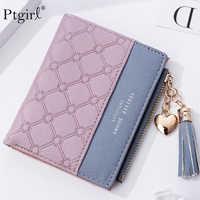 Tassel Leather Wallet Women Small Luxury Brand Famous Mini Women Wallets Ptgirl Lovely Purse Female Small Wallet for Women Bag