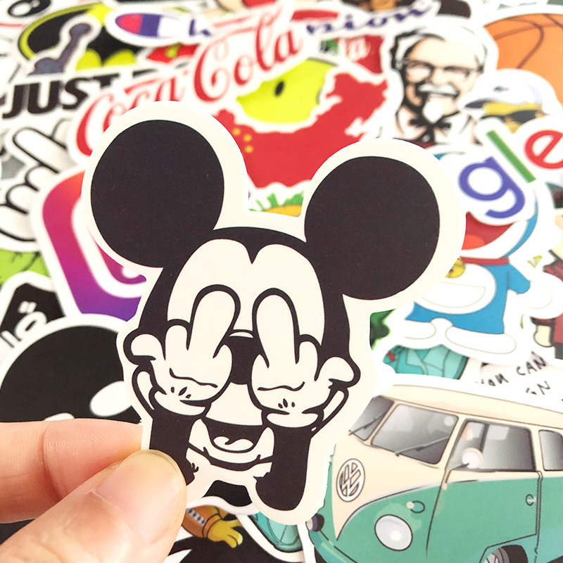 100pcs Mixture Fashion Brand Graffiti Stickers The Simpsons Decal Stickers Bomb On Car Guitar Luggage Laptop Skate Bike Sticker