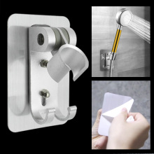Регулируемый самоклеящийся ручной всасывающий хромированный полированный держатель для душа настенный держатель для ванной комнаты держатель для душа кронштейн