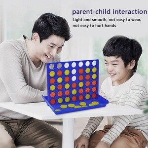 Mini juegos de mesa familiares estéreo para niños, fiesta de reunión, juegos de cuatro filas portátiles para niños y adultos