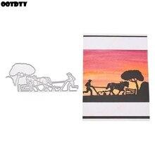 Farmer Metal Cutting Dies Stencil DIY Scrapbooking Album Stamp Paper Card Embossing Crafts Decor