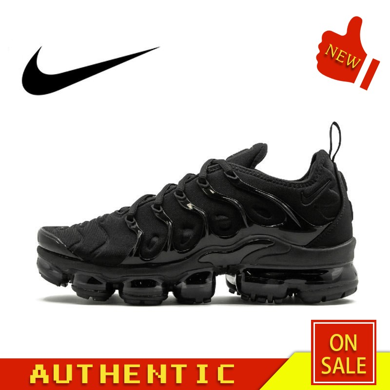 Original Authentic Nike Air Vapormax Plus TM Men's Running Shoes Classic Fashion Outdoor Sports Shoes Breathable 924453-004