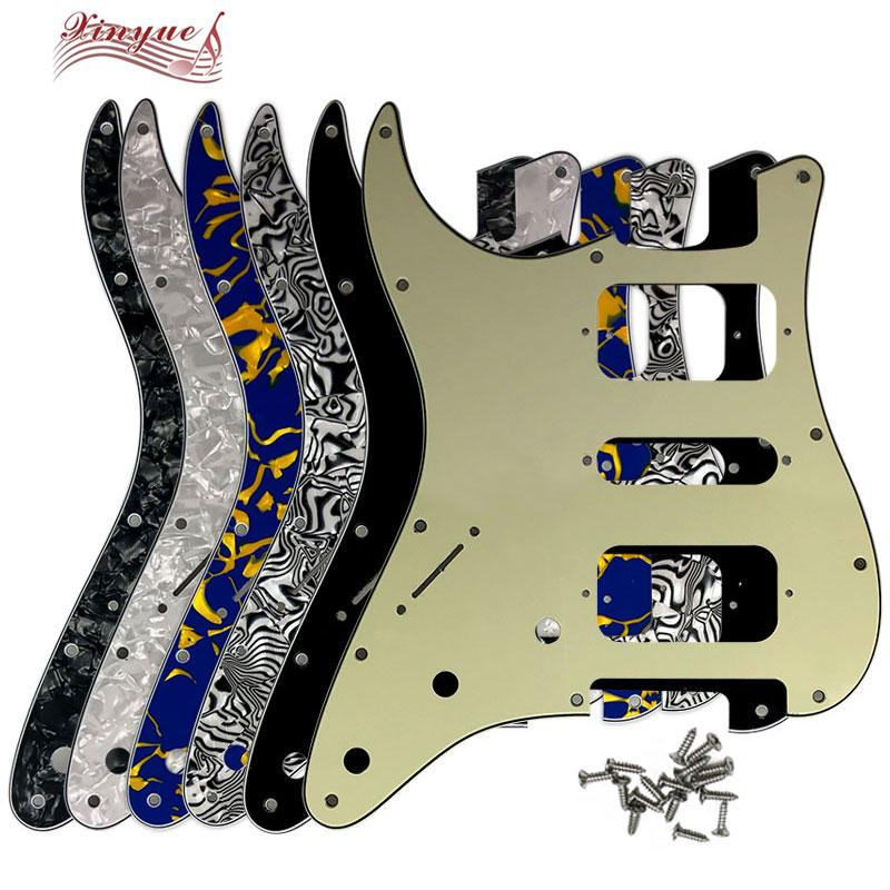 Trendyest negro 11 orificios para zurdos Pickguard para guitarra Fender Stratocaster de 3 capas