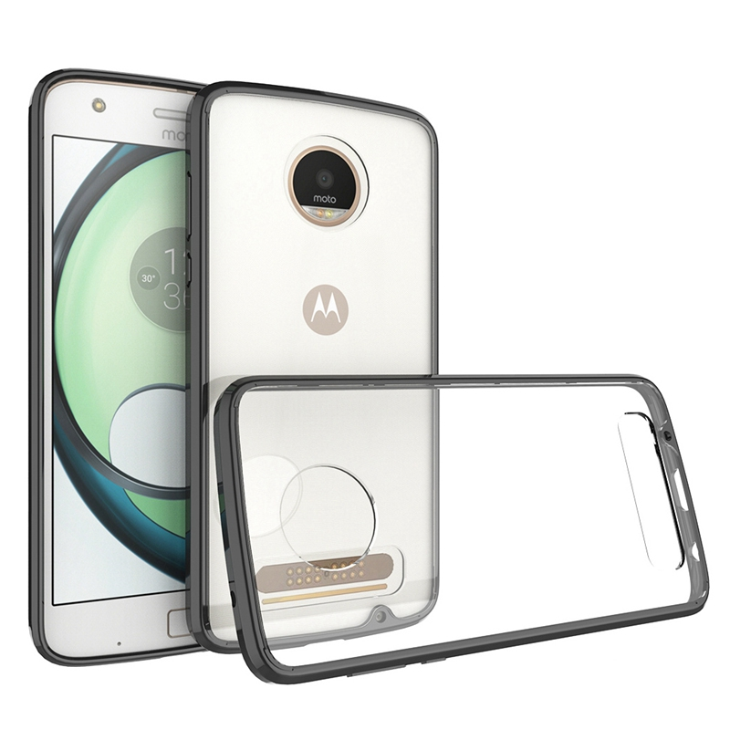 Hot Hybrid Shockproof Cover Air Cushion Frame Case Crystal Clear Back Panel Protection Fundas Coque voor Motorola Moto Z2 Play