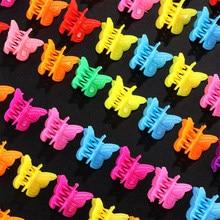 Mini pinzas para el pelo pequeñas de mariposa, pasadores de Color mezclado, horquilla, accesorios para el cabello para mujeres y niñas, Universal, venta al por mayor
