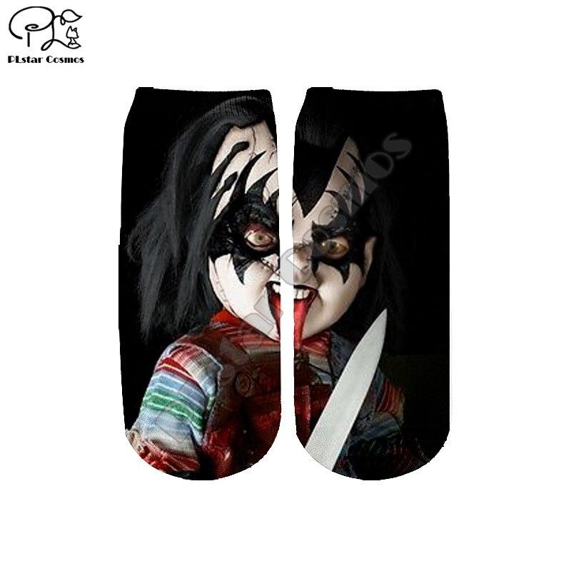 Halloween Child's Play Bride Of Chucky Socks Harajuku 3d Skull Print Ankle Sock Men Women Funny Sock Summer Spring Autumn Winter