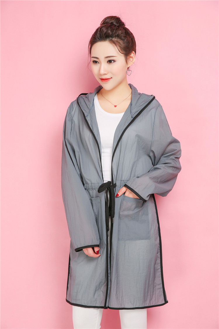 Summer Women Sun-proof Clothing Plus Size Tops Fashion Long Sleeve Hooded Loose Female Coat Z8641