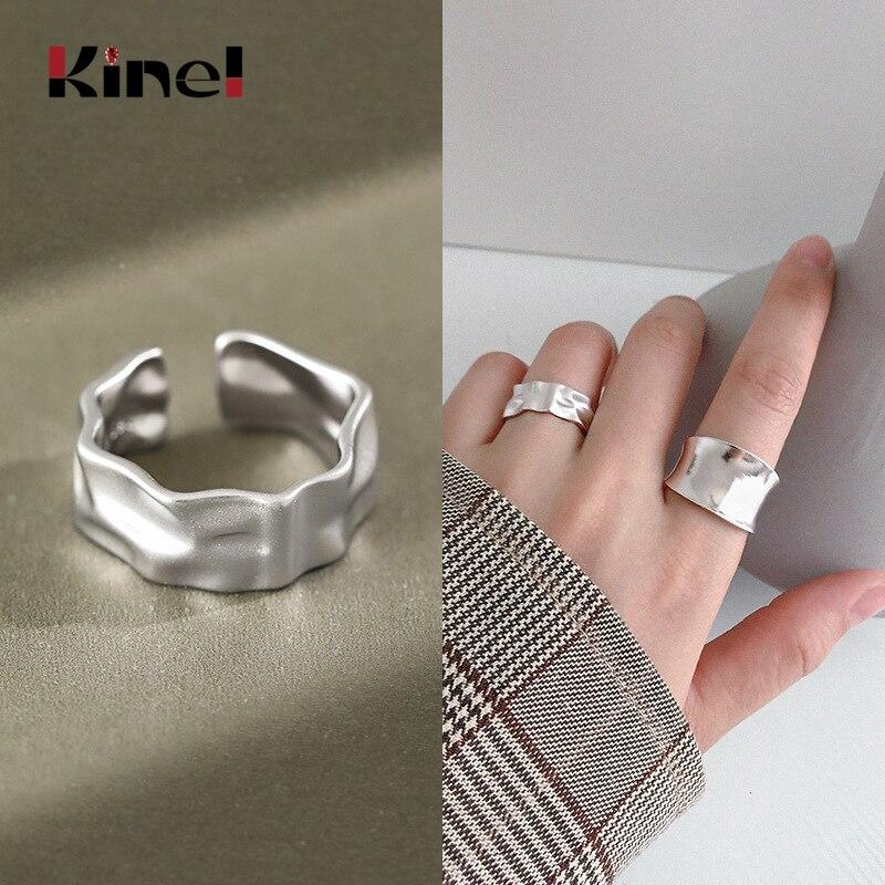 Kinel подлинное кольцо из стерлингового серебра 925 пробы, женское ювелирное изделие, модное открытое регулируемое женское кольцо на палец, серебро 925 пробы, изящное ювелирное изделие|Кольца|   | АлиЭкспресс