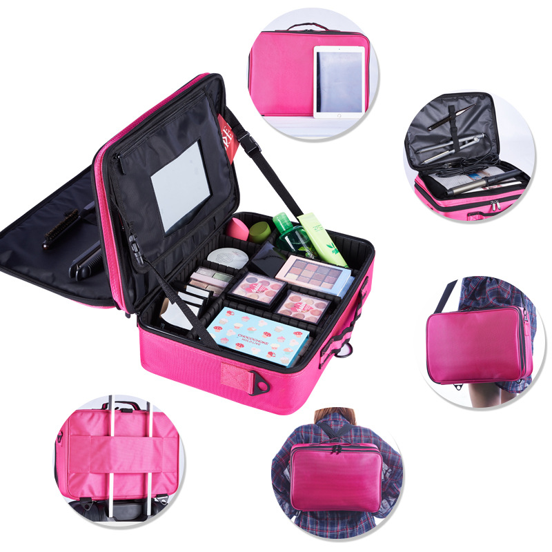 Female Cosmetics Case Professional Makeup Tool Set Organizer Bolso Mujer Cosmetic Bag Large Capacity Case Multilayer Suitcase