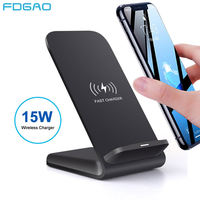 FDGAO Qi Wireless Charger 15W Quick Charge For iPhone 11 Pro X XS Max XR 8 Samsung S9 S10 S20 Note 10 USB C Charging Stand Pad|Wireless Chargers| |  -