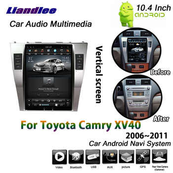 Car Android Multimedia Vertical HD Screen For Toyota Camry XV40 2006 2007 2008 2009 2010 2011 Radio Wifi GPS Navigation System