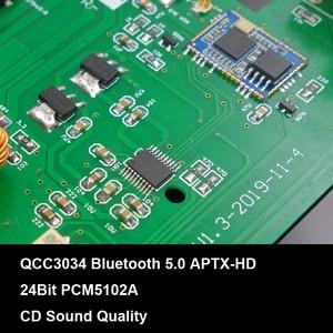 Image 5 - 100W+100W Bluetooth 5.0 APTX HD TPA3116D2 Power Amplifier Board 2.0 TPA3116 PCM5102A DAC Audio NE5532 Equalizer Class D Amp