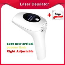 Depiladora láser permanente IPL para mujer, fotodepiladora láser LCD, indolora, para axilas, 900000