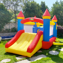 Yard Opblaasbare Bounce Huis Met Bal Pit Tunnel Obstacle Air Blower Springkussen Voor Kids Party Speelhuis Springkasteel