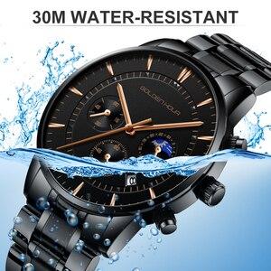 Image 5 - Goldenhour relógios masculinos marca de luxo aço completo negócios relógio de pulso à prova dwaterproof água quartzo masculino relógio relogio masculino