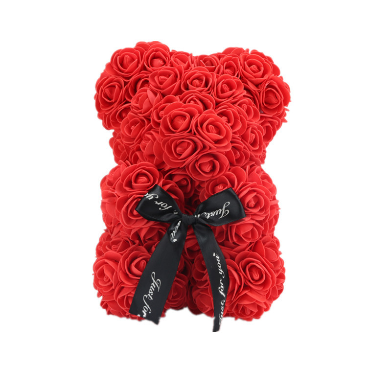 Mothers Day gift 25cm Rose Flower Bear Toys Teddy  Wedding//Birthday Lover Gift