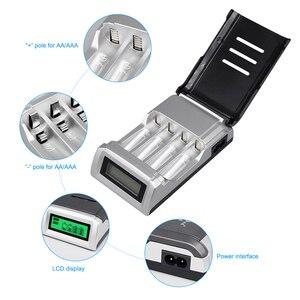Image 3 - Умное зарядное устройство PALO C905 с ЖК дисплеем и 4 слотами для аккумуляторов AA / AAA NiCd NiMh, быстрая зарядка