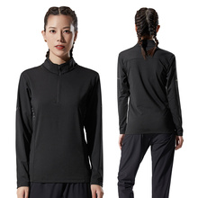 Shirt Tracksuit Training-Wear Sports-Top Gym Fitness Quick-Dry Women's Black Autumn Tight