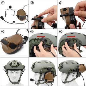 Image 5 - Arco trilho adaptador capacete suporte esquerda & direita lado acessórios para peltor comtac fones de ouvido, 1 par bk