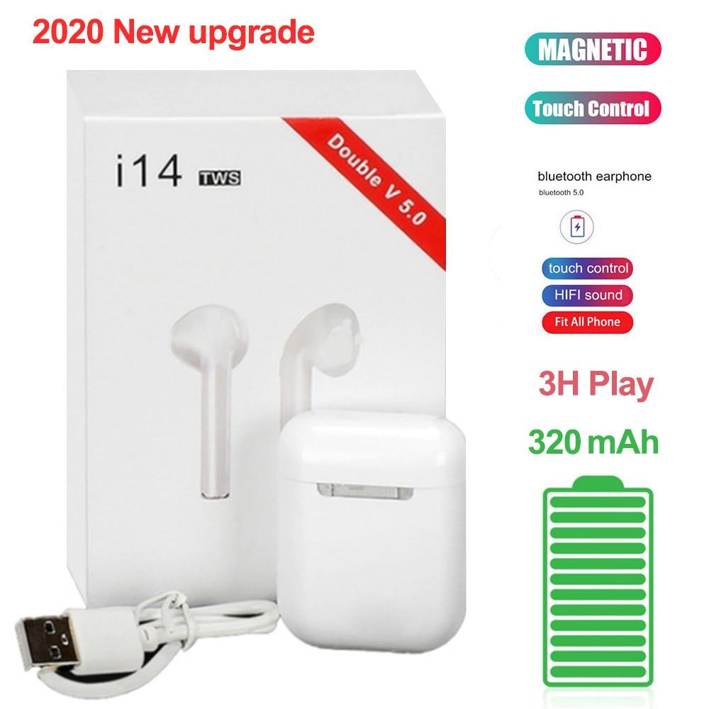 2020 Original I14 TWS Bluetooth 5.0 Earphone Wireless Earbuds Headphones Smart Touch Control Sport For IPhone 11 Samsung Xiaomi