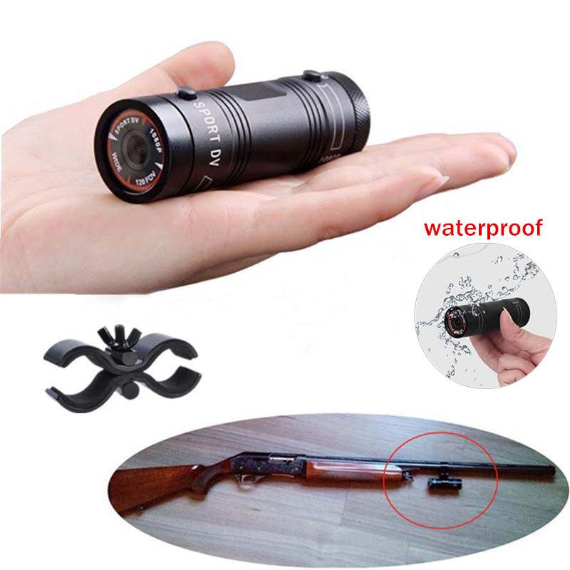 Camcorder Mini Video Recorder For Outdoor Hunting Metal Helmet Camera FHD 1080P Torch Gun Camera Head Cam Bullet DV Recorder