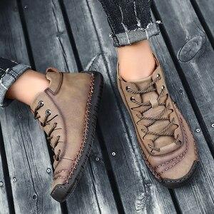 Image 5 - Bottines en cuir pour hommes, chaussures de neige chaudes en fourrure, de bonne qualité, confortables, chaudes, hiver, 48