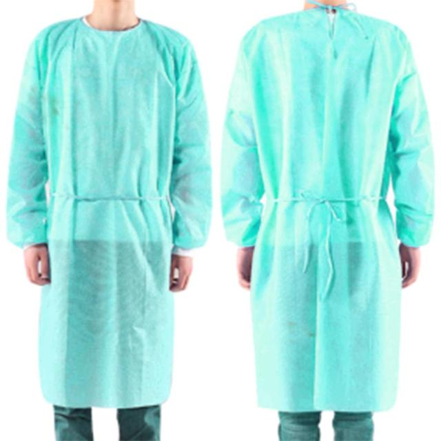 10pcs  PPE Suit Isolation Gowns  Adult Disposable Gowns Blue Protective Gowns Dust-proof Isolation Clothes Labour Suit Non-woven 1