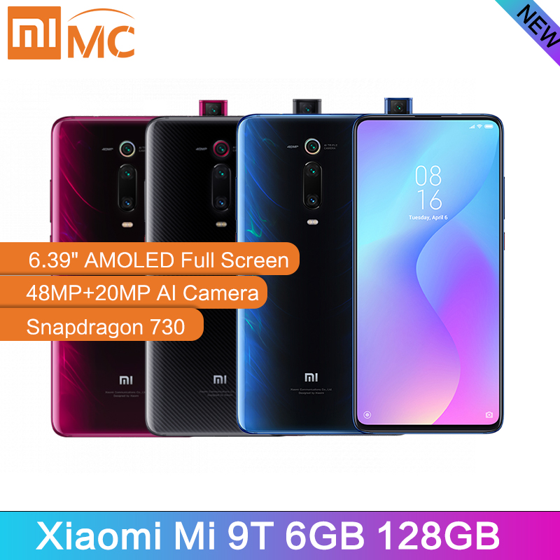 Xiao mi mi 9T 6GB 128GB téléphone portable Snapdragon 730 48MP AI caméra arrière 4000mAh 6.39 AMOLED affichage mi UI Version globale