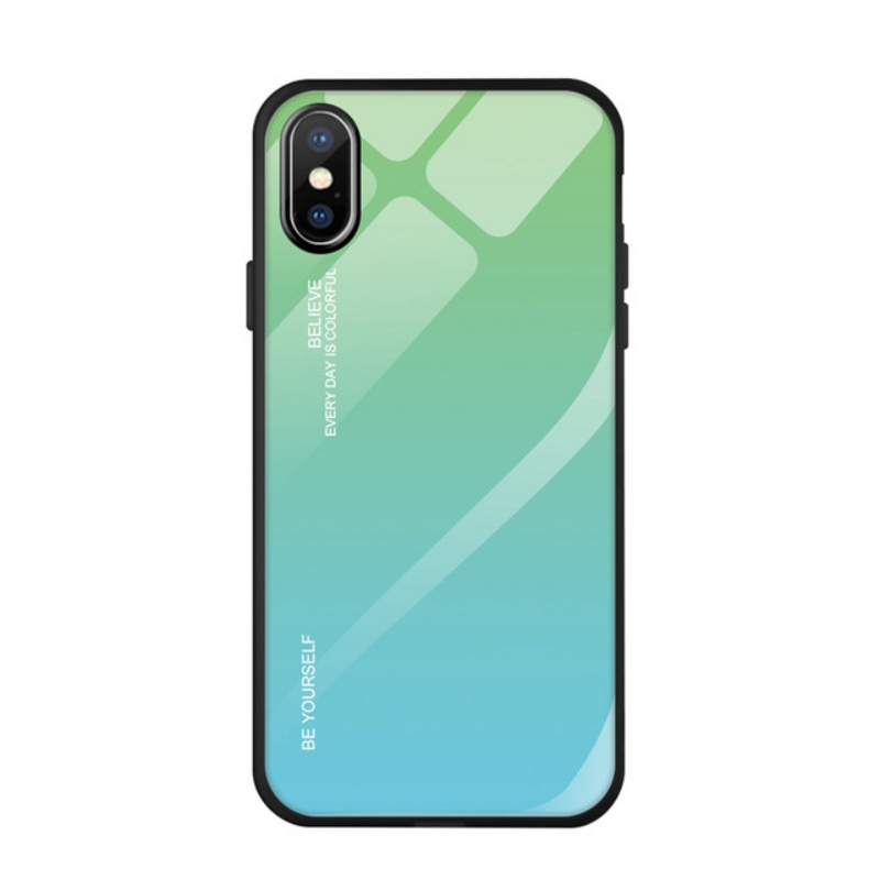 For IPhoneXR Phone Case Concise Innovation Anti-scratch Tempered Glass Gradient Anti-fall Ultra-thin Dirt-resistantiPhoneXR