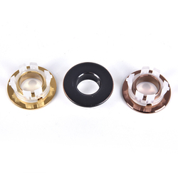 Bathroom Basin Faucet Sink Round Overflow Cover Brass Six-foot Ring Insert Replacement Bathroom Faucet Accessories