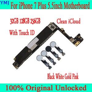 Image 2 - Voor Iphone 7 Plus Moederbord 32Gb/128Gb/256Gb, originele Ontgrendeld Voor Iphone 7 P Logic Board Met/Zonder Touch Id Gratis Icloud