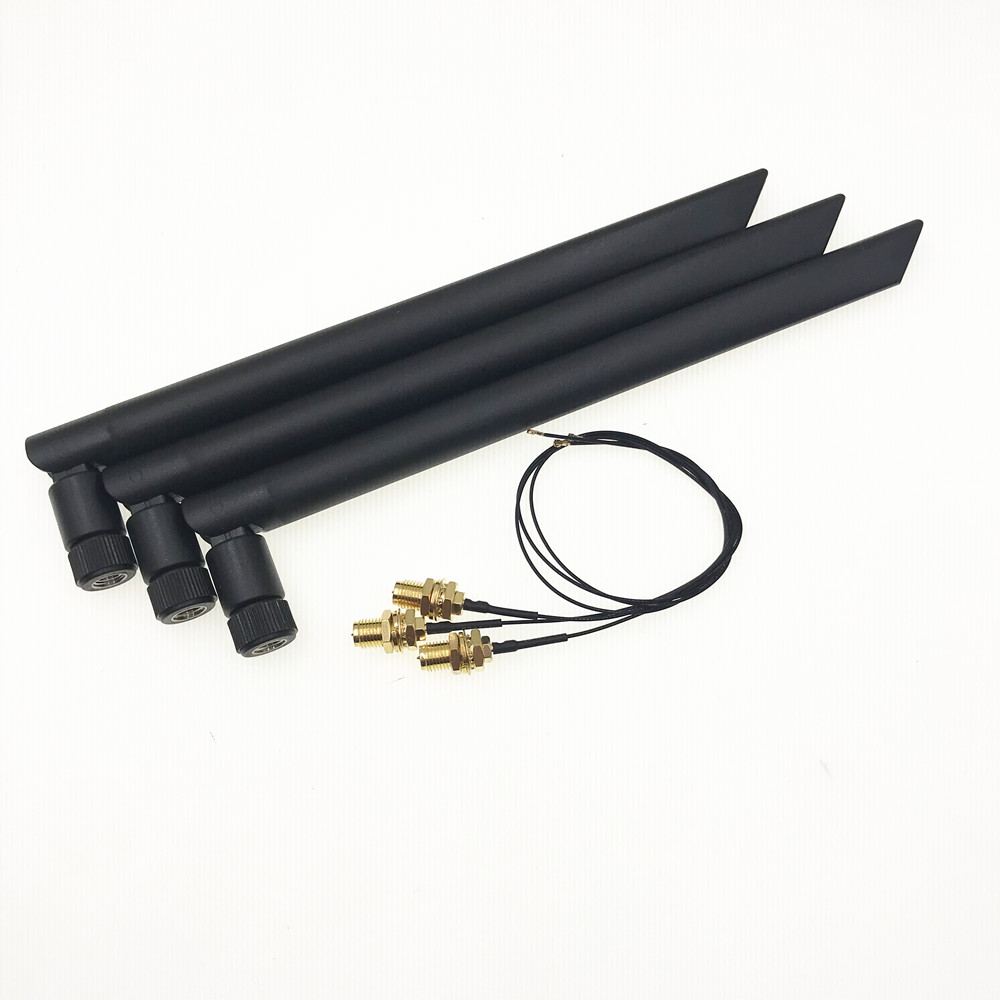 6dBi Dual Band IPEX MHF4 Antenna Set For Intel 9560 9260 8265 AX200 AX201 NGFF M.2 Card U.fl RP-SMA Wifi Cable