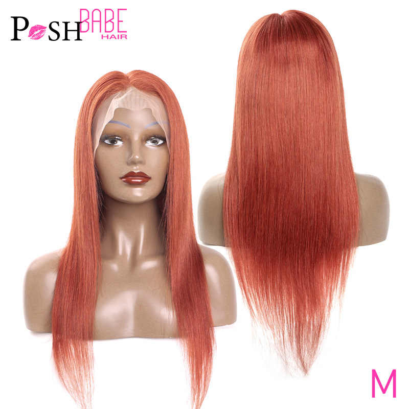 8 - 26 inch Brazilian Remy Straight 99J Burgundy Lace Front Wig Pre Plucked Transparent #350 Color Human Hair Wigs with Bangs
