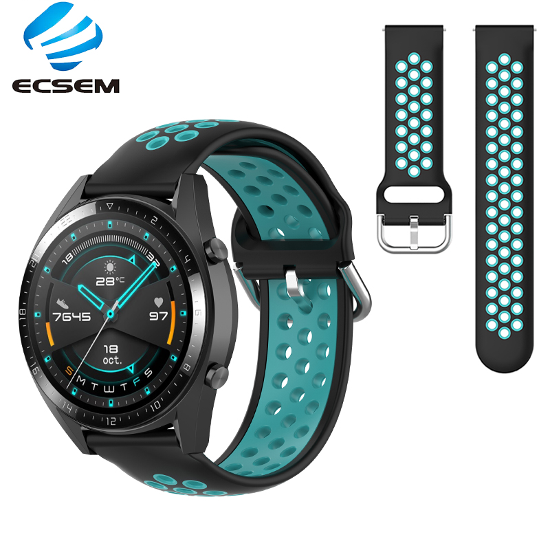 Wristband for Huawei watch GT2 42MM 46MM watch accessories band silicone loop replacement adjustable strap