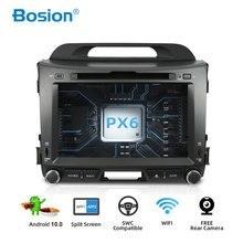 Bosion 4G 64G Android 10.0 2 DIN เครื่องเล่นมัลติมีเดียรถยนต์สำหรับ KIA Sportage 2011 2012 2013 2014 2015 headunit GPS นำทาง
