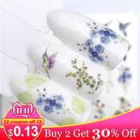 ZKO 1 PC Nail Sticker Summer Water Transfer Decals Fruit/Ice Cream/Cartoon /Flower Design Temporary Tattoos Slider Tips