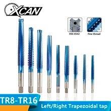 XCAN 1 шт. TR8-TR20 левая/правая рука трапециевидный кран HSS6542 нано синий покрытием метрический резьбовой кран металлический винт отверстие сверлильный кран дрель