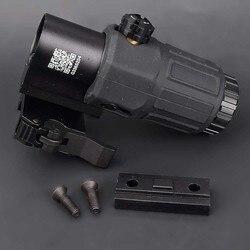 Âmbito de caça ao ar livre g33 3x lupa vista holográfica espaço para 20mm tecelão ferroviário montagens com interruptor para o lado destacável rápido