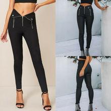 цены на Goocheer High Waist Long Black Pants Slim Skinny Womens Leggings Stretchy Jeggings Pencil Pants Zipper Sexy Style Women Trousers  в интернет-магазинах