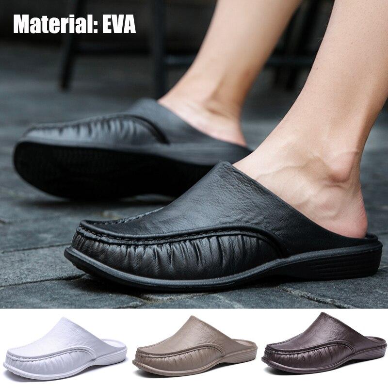 Pantoufles EVA pour hommes, sandales de plage, chaussures de maison, taille 40-47 1