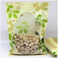 FREE DHL Wholesale 10*15cm 12*20cm Tea Snack Clear Ziplock Packaging Bags Green Leaf Heat Seal Plastic Valve Resealable Bag