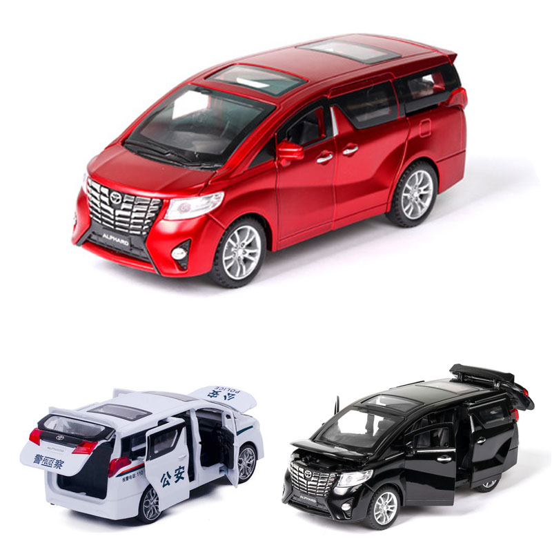 1:32 Toyota Alphard Car Model Alloy Car Die Cast Toy Car Model Pull Back Children's Toy Collectibles Free Shipping