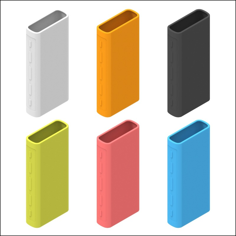 Powerbank Case Silicone Protector Case Cover For Xiaomi Power Bank 3 20000 MAh Dual USB Port Skin Shell Sleeve Protector Cover