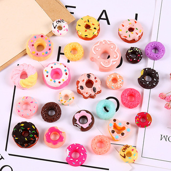 1pcs Donuts Cake Biscuit For Barbie Blyth Licca Kurhn 1/6 bjd Dolls Miniature Mini Play Food Pretend Toy Doll house Accessories image