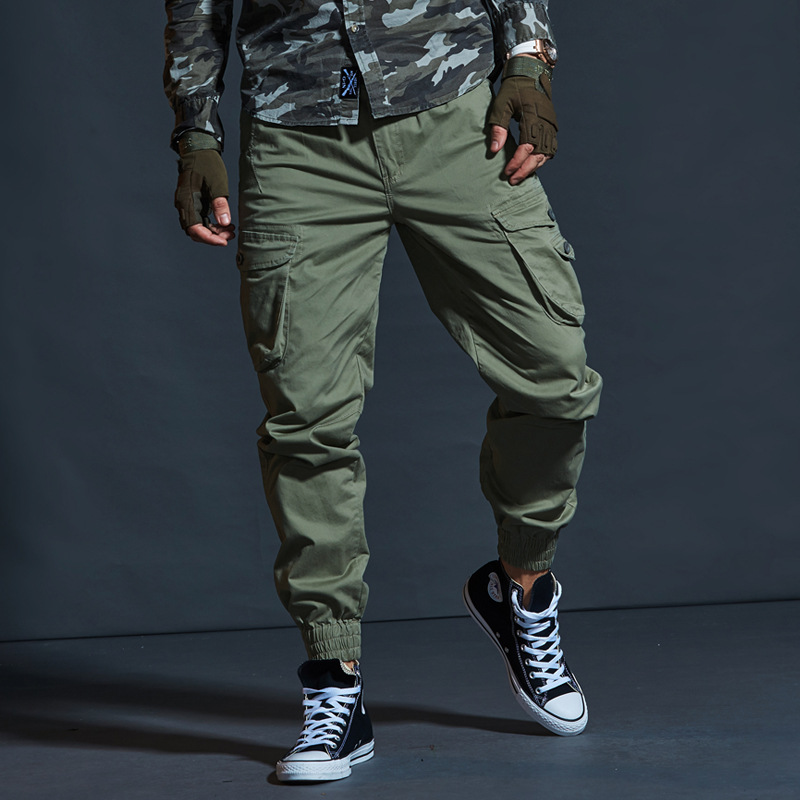 High Quality Khaki Casual Pants Men Military Tactical Joggers Camouflage Cargo Pants Multi-Pocket Fashions Black Army Trousers 4